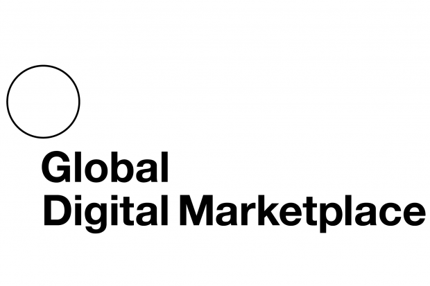 The Global Digital Marketplace logo featuring its words and a circle