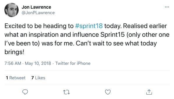 Tweet by JonPLawrence on 7:56 AM · May 10, 2018 (tweet content below)