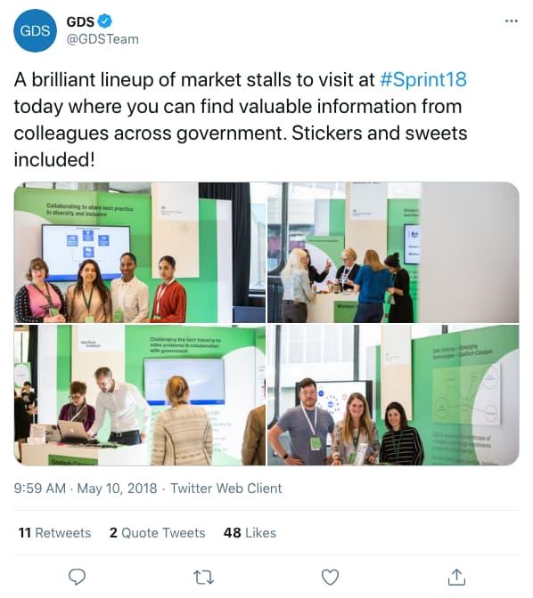 Tweet by gdsteam on 9:59 AM · May 10, 2018 (tweet content below)