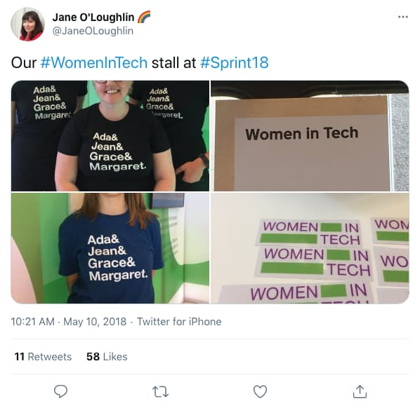 Tweet by JaneOLoughlin on 10:21 AM · May 10, 2018 (tweet content below)