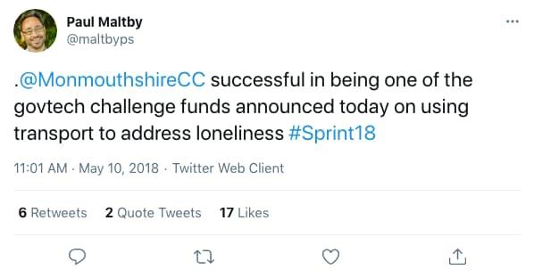 Tweet by maltbyps on 11:01 AM · May 10, 2018 (tweet content below)