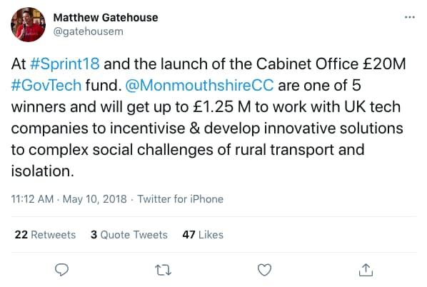 gatehousem tweeted at 11:12 AM · May 10, 2018 (tweet content below)
