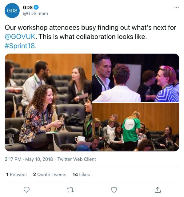 Tweet by gdsteam on 2:17 PM · May 10, 2018 (tweet content below)