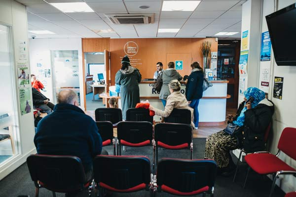 A picture of the waiting area inside a CItizen's Advice branch