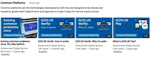 An example of how videos on the same topic are now grouped together