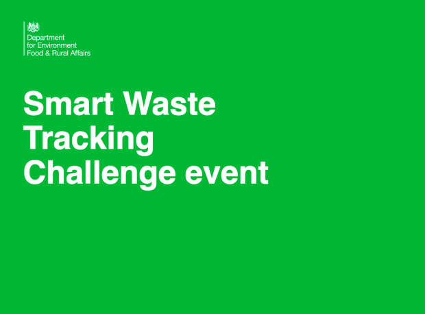 "A slate saying the words ""Smart Waste Tracking Challenge event"""