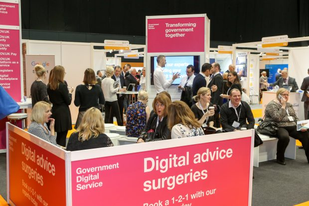 The GDS stand offering digital advice surgeries at the Public Sector Show earlier this year