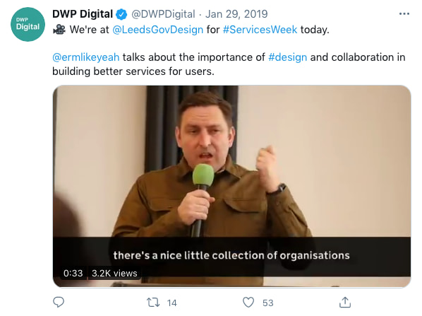 DWPDigital tweeted at 3:20 PM · Jan 29, 2019 (tweet content below)