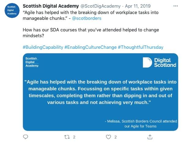 ScotDigAcademy tweeted (tweet content below)