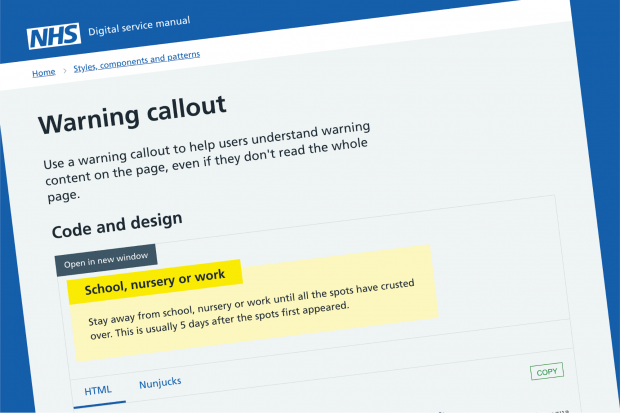 Guest post: Adapting the GOV UK Design System for the NHS