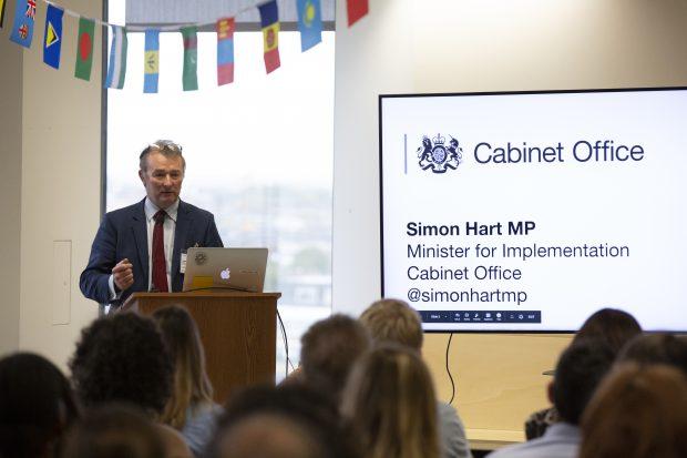 Simon Hart speaking