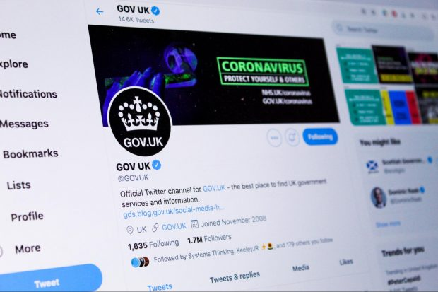 GOV UK Twitter account