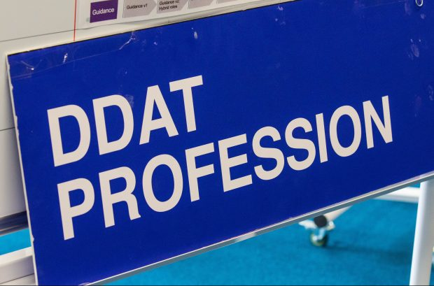 "A sign that reads ""DDaT Profession""."