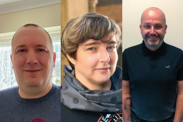 Collage of photos of Chris Watson, Liz Luttgendorf, Christopher Short.