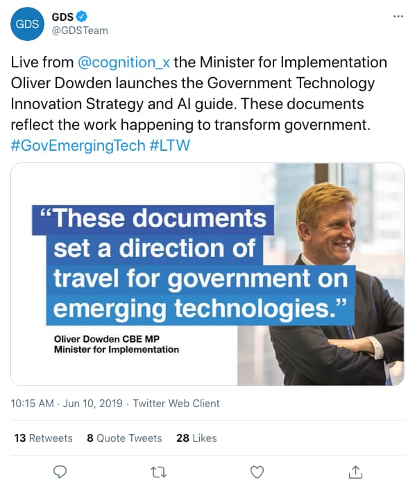 GDSTeam tweeted at 10:15 AM · Jun 10, 2019 (tweet content below)