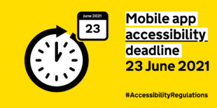 Mobile app accessibility deadline 23 June 2021. #AccessibilityRegulations.